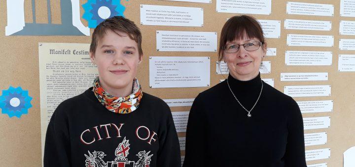 Jaanus koos õpetaja Elega. Foto: Ave Siilak